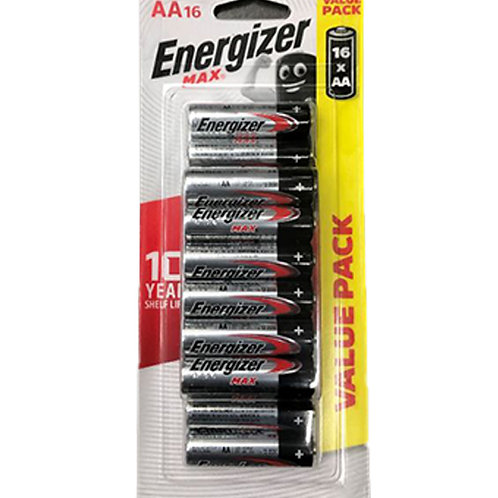 Energizer Alkaline Battery - Max (AA) 16 per pack