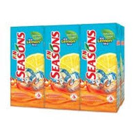 F&N Seasons Packet Drink - Ice Lemon Tea (Reduced Sugar) 6 x 250ml