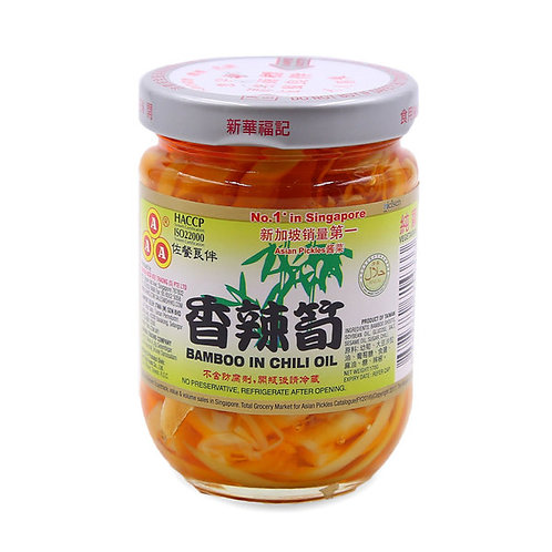 AAA Preserved Vegetables - Bamboo in Chili Oil 170g