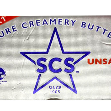 SCS Pure Creamery Butter Block - Unsalted 4 x 227g