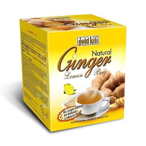 Gold Kili Natural Ginger Lemon Bag 20 x 4g