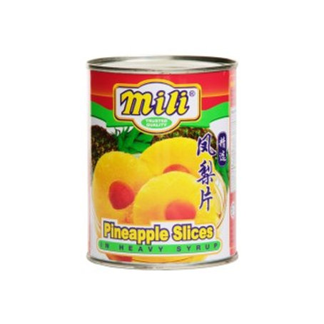 Mili Fruits in Heavy Syrup - Pineapple Slices 565g