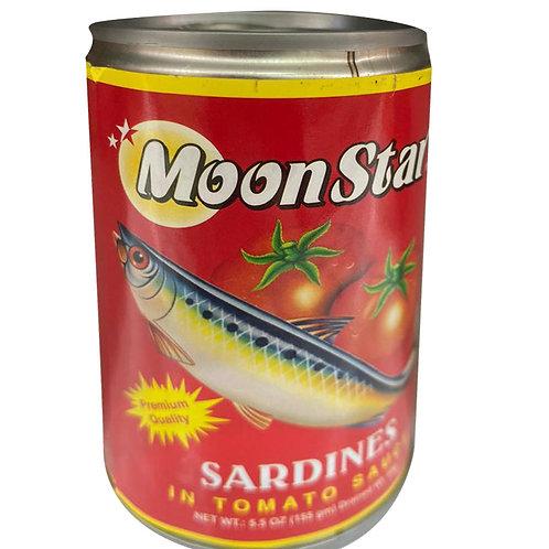 Moon Star Sardines in Tomato Sauce 155g