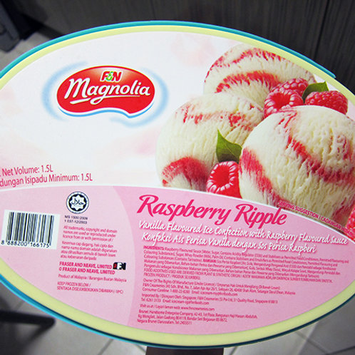 F&N Magnolia Ice Cream - Raspberry Ripple 200g