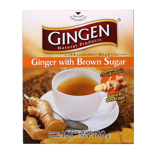 Gingen Instant Ginger Powder Brown Sugar 10 x 18g