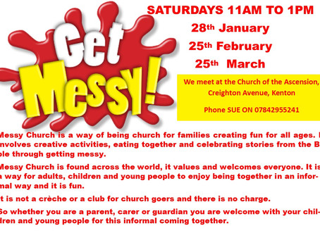 Messy Church Saturdays at Church of the Ascension