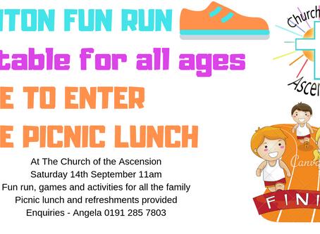 Free to attend Fun Run 14th September 11am