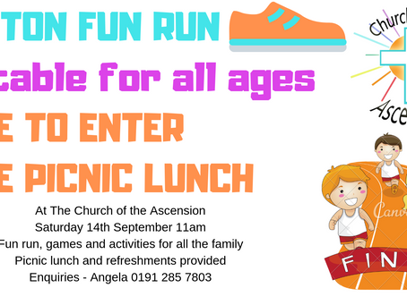 Free to attend Fun Run 14th September 11am