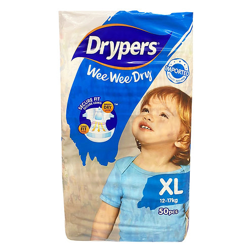 Drypers Wee Wee Dry Diapers - XL (12 - 17kg)