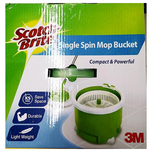 3M Scotch-Brite Single Spin Mop Bucket Set 1 per pack