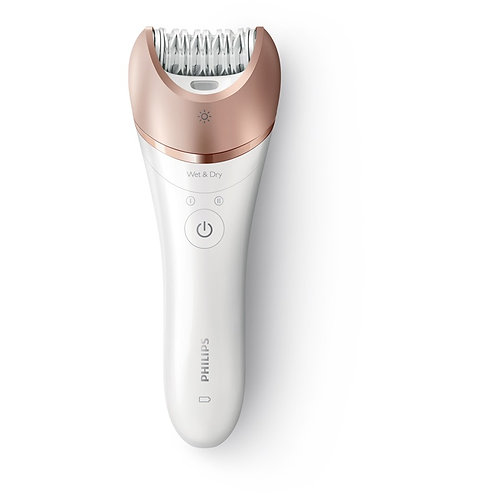 Satinelle Advanced: First epilator with S.shaped handle (8 Accessories)