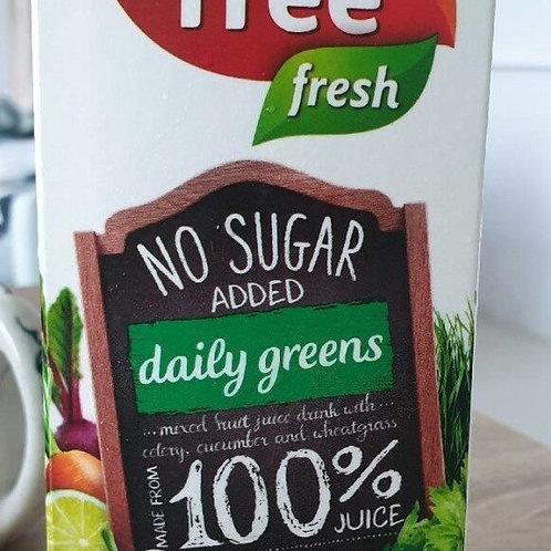 F&N Fruit Tree Fresh No Sugar Added Juice - Daily Greens 1L