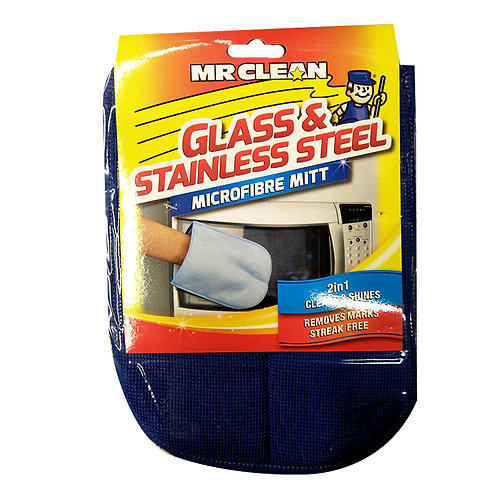 Mr Clean Microfibre Mitt - Glass & Stainless Steel
