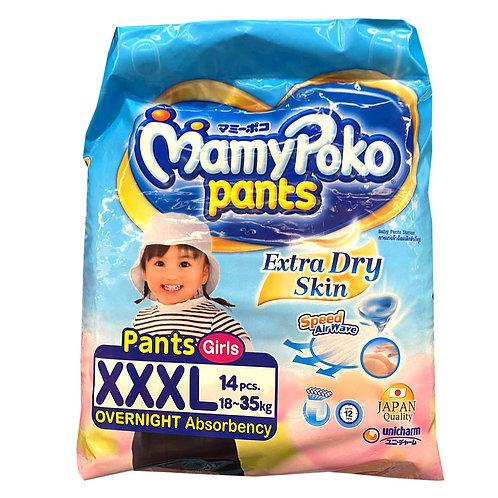 MamyPoko Girls Diaper Pants - XXXL (18 - 35kg)14 per pack