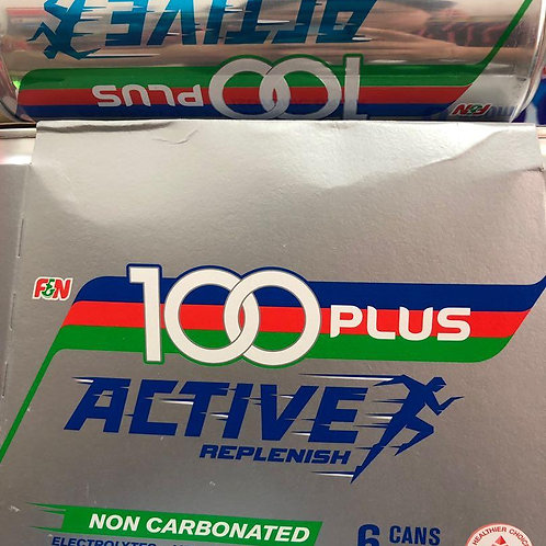 100 Plus Isotonic Non Carbonated Can Drink - Active 6 x 300ml