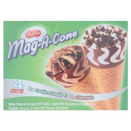 F&N Magnolia Mag-A-Cone Ice Cream - Chocolate&CookieCrumble 4 x 115ml