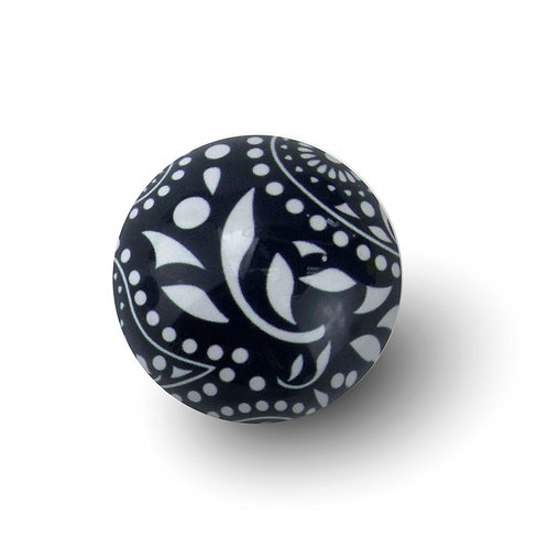Expressions - Black and White Paisley: Vanilla Bean
