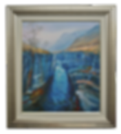 RIVER ETIVE SERIES: GORGE ACRYLIC PAINTING
