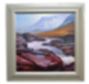 RIVER ETIVE SERIES: WINTER FLOW ACRYLIC PAINTING
