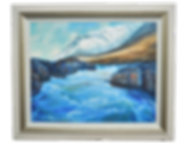 RIVER ETIVE SERIES: FIRE AND ICE ACRYLIC PAINTING