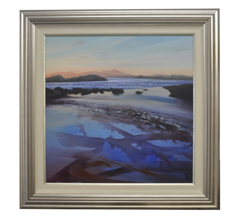 EVENING SHIMMER, ORCHARDTON BAY ACRYLIC PAINTING