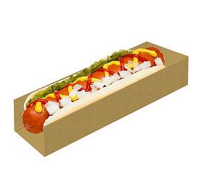 Caixa cartão hot dog