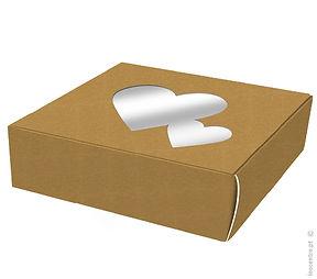 caixa bolos cartao corações
