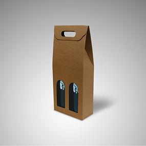 caixa cartão para 2 garrafas vinho