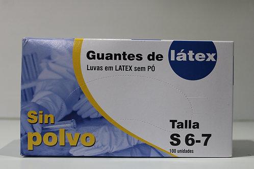 Luvas Latéx 100 unid- Tam S