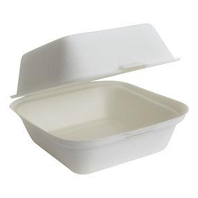 caixa comida quadrada compostável