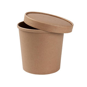 Tigela sopa compostável fibra papel