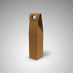 caixa cartão 1 garrafa