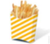 Porta batata frita cartão