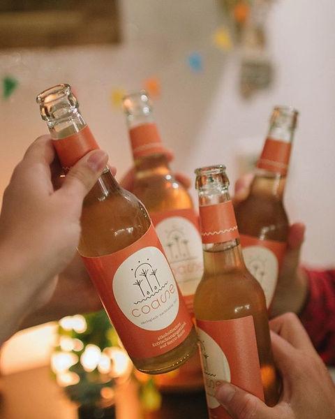 Auf unsere ersten, abgefüllten Flaschen!