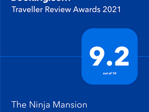 Booking.com よりTraveller Review Awards 2021 受賞しました!