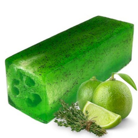Savon exfoliant loofah thym citron vert
