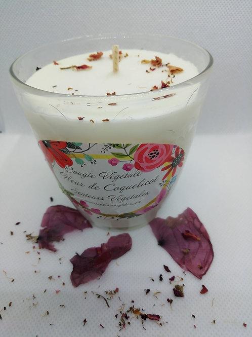 Bougie végétale parfumée fleur de coquelicot