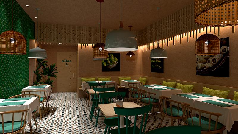 Vista interior restaurante Masa Madre