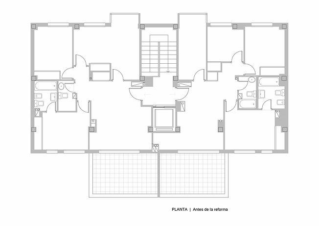 Plano dos viviendas atico