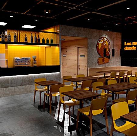 Diseño de los nuevos locales para 'Tacos Don Manolito'
