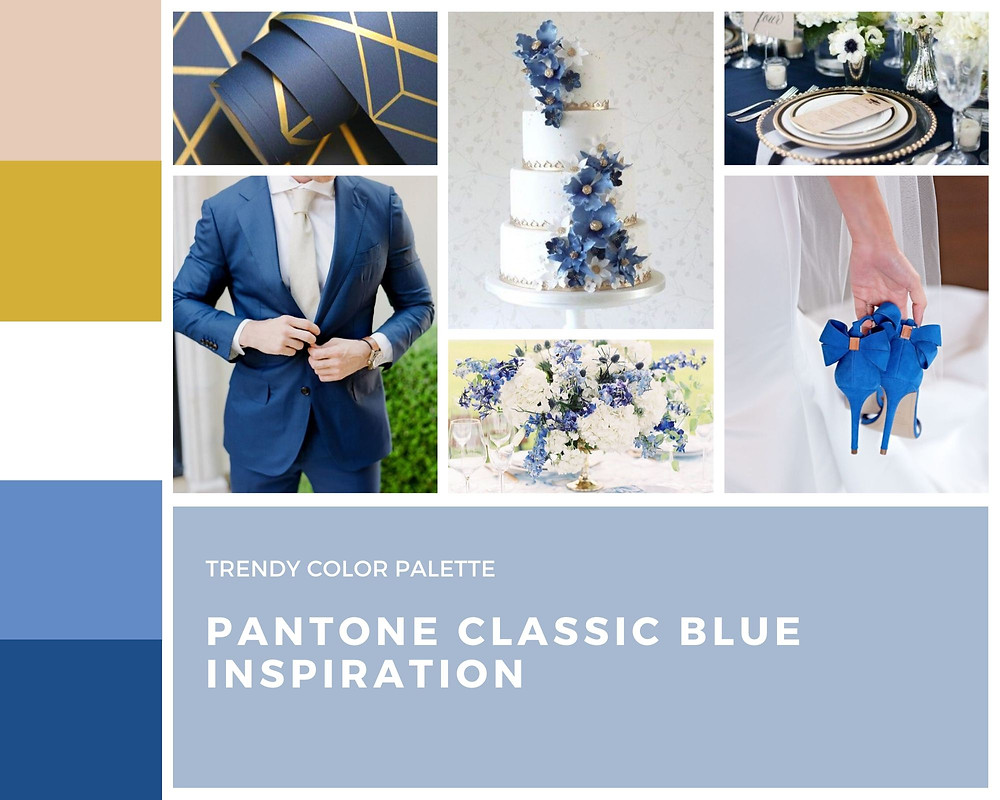 pantone classic blue wedding inspiration