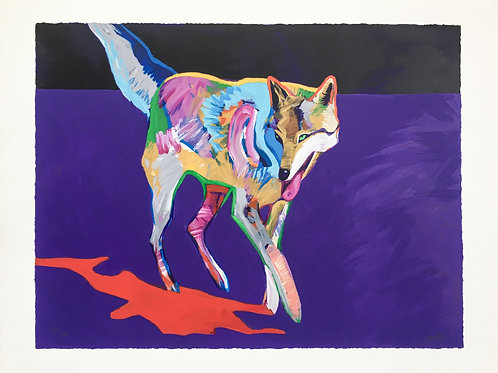 """Wolf on the Prowl"" by John Nieto"