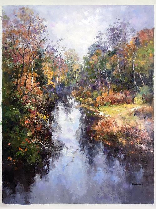 """""""Wooded Creek"""" by Paul Guy Gantner"""