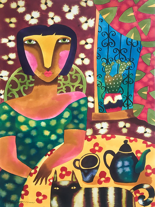"""""""Camila y el Gato"""" by Hortensia Bueno"""