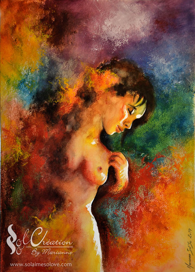 Aquarelle : Woman's colors""