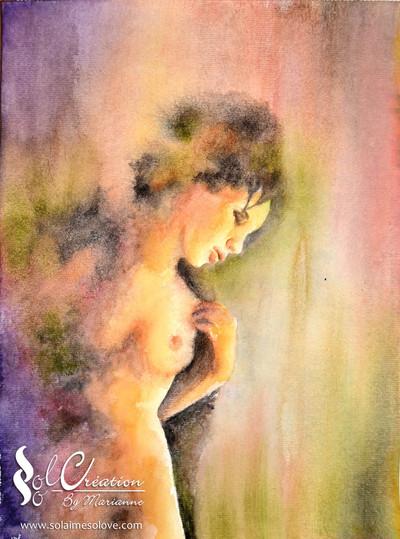 "Aquarelle : Woman's sweatness"""