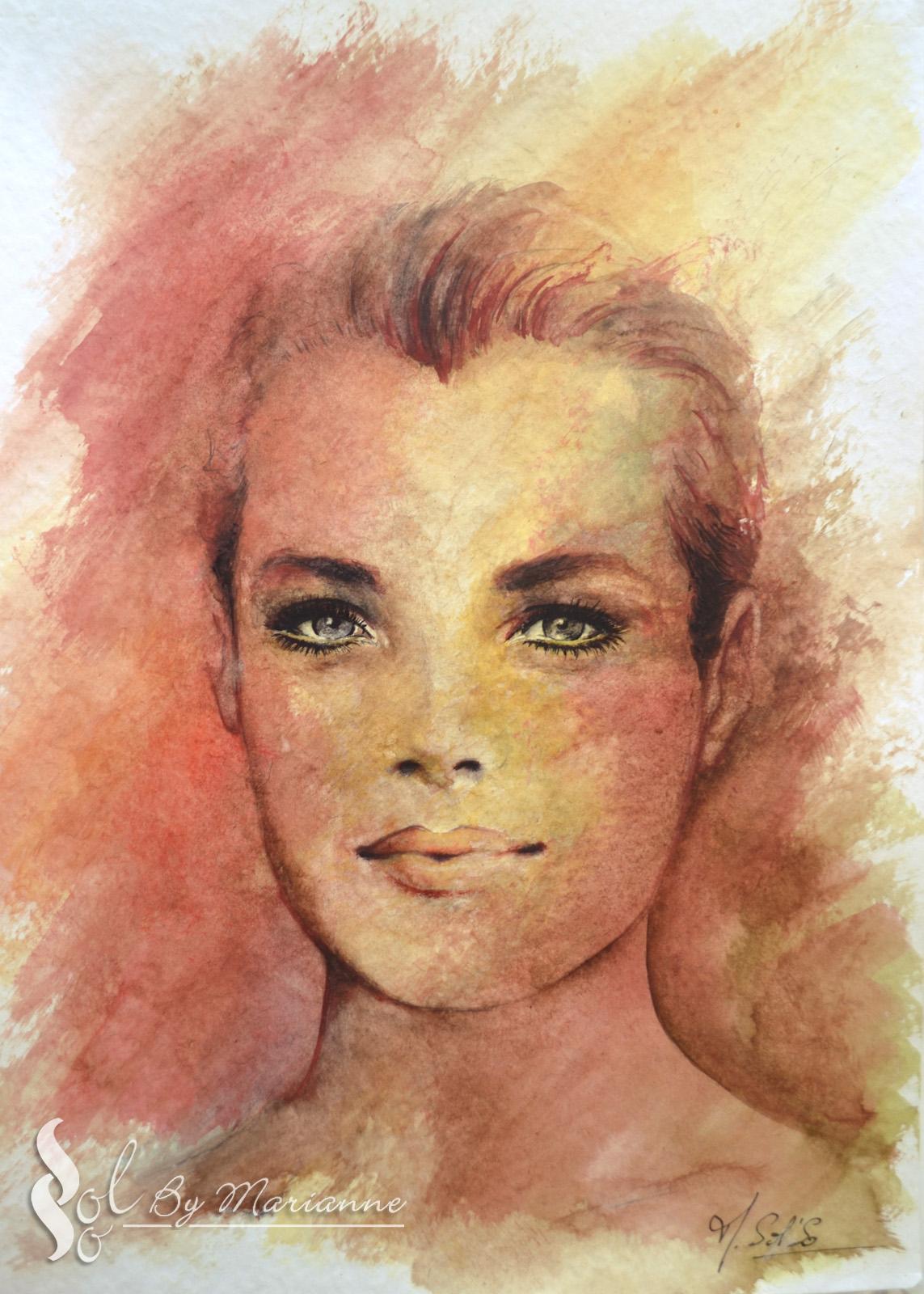Romy Schneider - Aquarelle (DSC2232)