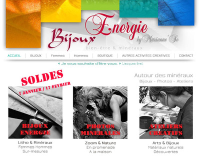 """Le site dédié """"Bijoux Energie"""" !"""