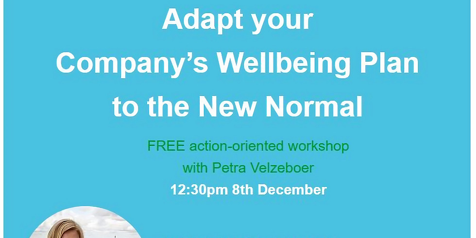 Adapt your Wellbeing Plan to the New Normal
