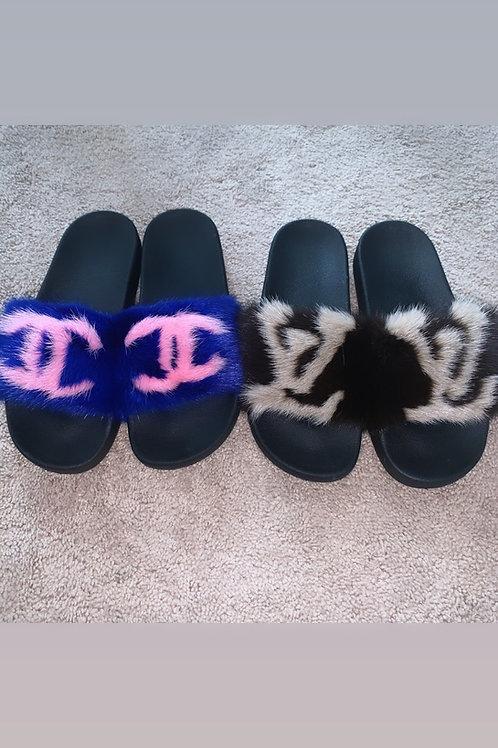 Designer Fur Slides